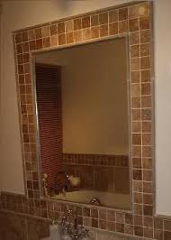 Tiles In Bathroom Ideas by Best 25 Tile Around Mirror Ideas Only On Pinterest Mirror