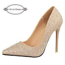 wedding shoes bottoms 2016 new fashion women silver rhinestone wedding shoes platform