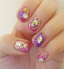 nail art rhinestones nail art designs 2014 ideas images tutorial