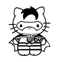 kitty batman dark knight car window vinyl decal bumper