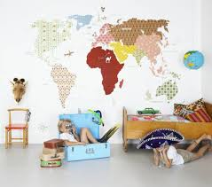 weltkarte für kinderzimmer tapeten kinderzimmer passende farben und motive auswählen
