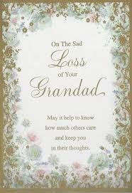 iparty sympathy cards loss of your grandad from andersons