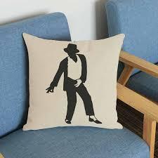 taie d oreiller pour canapé coton tissu michael jackson motif coussin décor à la maison