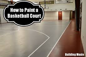 Outdoor Basketball Court Cost Estimate by Painting A Basketball Court Building Moxie