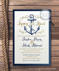 wedding invitations knot rustic anchor tie the knot wedding invitations nautical wedding
