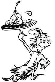 cat in hat coloring pages printable the free download kids page
