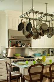 kitchen island pot rack how to hang a pot rack and lights a kitchen island pot rack