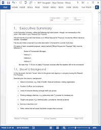 request for proposal rfp templates in ms word and excel instant
