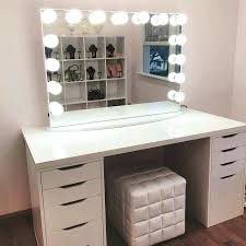 Lighted Makeup Vanity Table Lighted Makeup Vanity Manufacturers Vanities Table With Lights