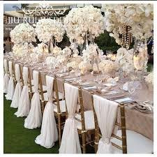 Ruffled Chair Covers 100 Pcs Chiffon Chiavari Chair Sash Chair Cover For Wedding Decoration