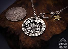 sterling silver handmade necklace images The silver shilling collection silver hedgehog necklace totally jpg