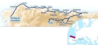 Asturias Spain Map by Luxury Train Club El Transcantabrico Clasico