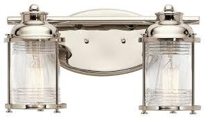 Felix 4 Light Cage Vanity - kichler 45771 ashland bay 2 light bathroom vanity light beach