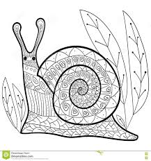 cute snail coloring book page stock vector image 72421471
