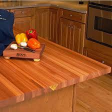 Butcher Block Kitchen Countertops Countertops American Cherry Butcher Block Island 3 Inch Thick