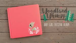 baby girl photo album woodland whimsy fast2fab baby girl album by creative memories