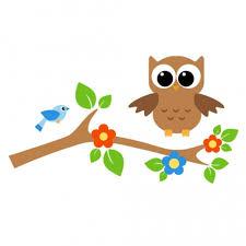 owl on tree branch clip 50