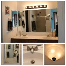 Gold Bathroom Fixtures by White Ceramic Flooring Tile Also Wall Cabinet With White Granite