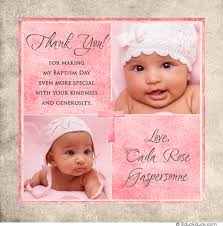 baptism thank you wording square photo baptism thank you card baby personalized