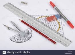 circle ruler triangle drawing tools stock photo royalty free