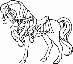 coloriage cheval jedessine