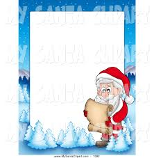royalty free stock santa designs of christmas borders