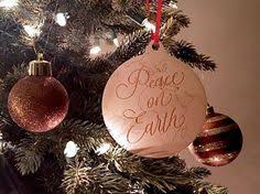 peace on earth custom ornament personalized glass gift