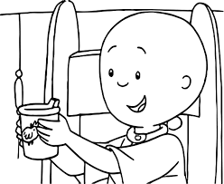 Caillou Cup Coloring Page Wecoloringpage Cup Coloring Page