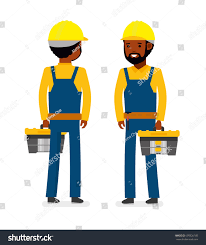 construction worker tool bag isolated against stock vector