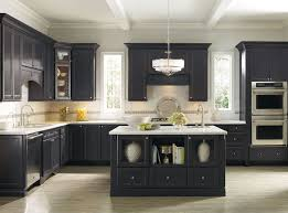 Kitchen Colors With Dark Cabinets Homely Ideas Black Granite Kitchen Interesting Design Black