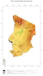 Africa Topographic Map by Map Chad Ginkgomaps Continent Africa Region Chad
