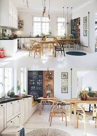 rustic scandinavian dining room interior design ideas