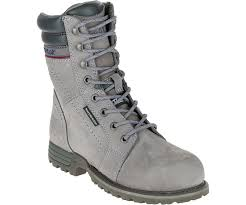 womens cat boots nz echo waterproof steel toe work boot grey cat