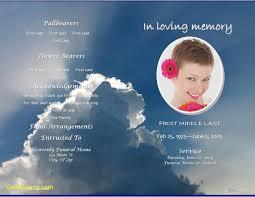 printable funeral program templates inspirational free printable funeral program template best templates