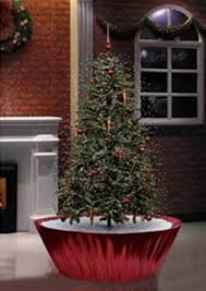 northlight 5 5 u0027 musical snowing artificial christmas tree with red
