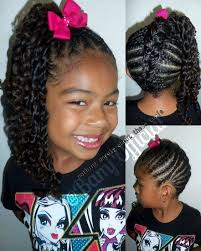 hair braided into pony tail natural child s hairstyle a braided mohawk with a side ponytail
