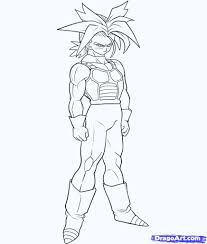 draw dragon ball gt characters step step pencil