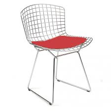 chaise bertoia knoll chaise bertoia chromée avec galette d assise en tissu knoll the