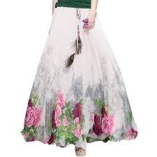summer skirts online get cheap maxi women summer skirts pleated aliexpress
