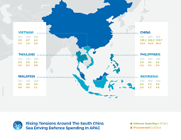 South China Sea Map Growing Tensions Around South China Sea To Drive Defence Spending