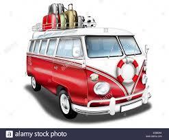 volkswagen hippie van clipart vw bus vw bus t1 german vintage car as a camper red and white