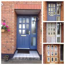 a front door makeover using annie sloan chalk paint in old violet