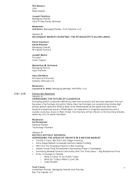 Venture Capital Resume 19th Annual Venture Capital Investing Conference