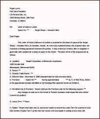 free sample letter of intent real estate lease template ms word