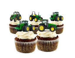 tractor cake topper edible deere tractor stand up cupcake toppers