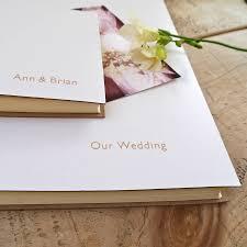Our Wedding Photo Album Personalised Leather Wedding Album By Begolden