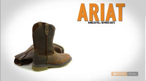 ariat rambler pull on work boots for men youtube