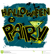 halloween party poster with hand lettering stock images image
