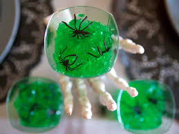 Halloween Party Ideas Halloween Party Ideas Make Green Gelatin Shots With Spiders Diy