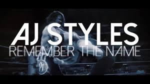 Name Style Design by Wwe Aj Styles Mv